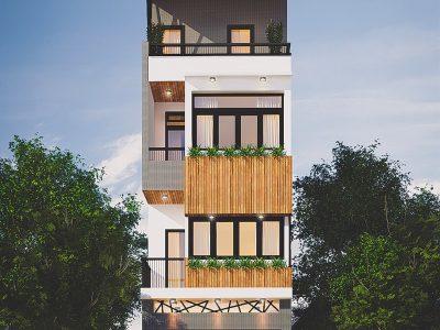 Thiết kế trọn gói kiến trúc- nội thất nhà anh Sơn – chị Giang – Hà Nội