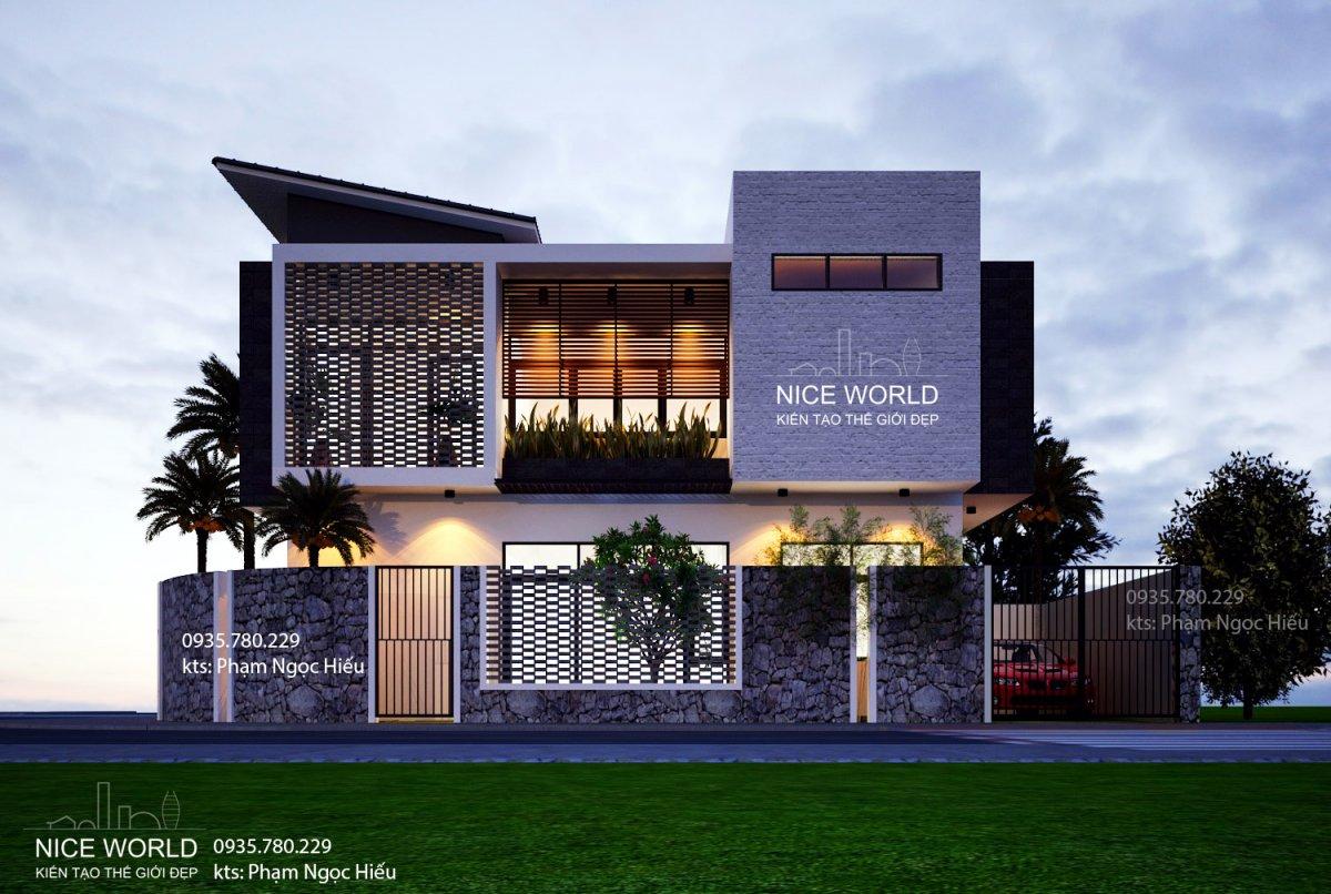 v2 Đã mắt với ngôi nhà thiết kế đẹp độc và lạ xanh mát ấn tượng ở Đà Nẵng. V2