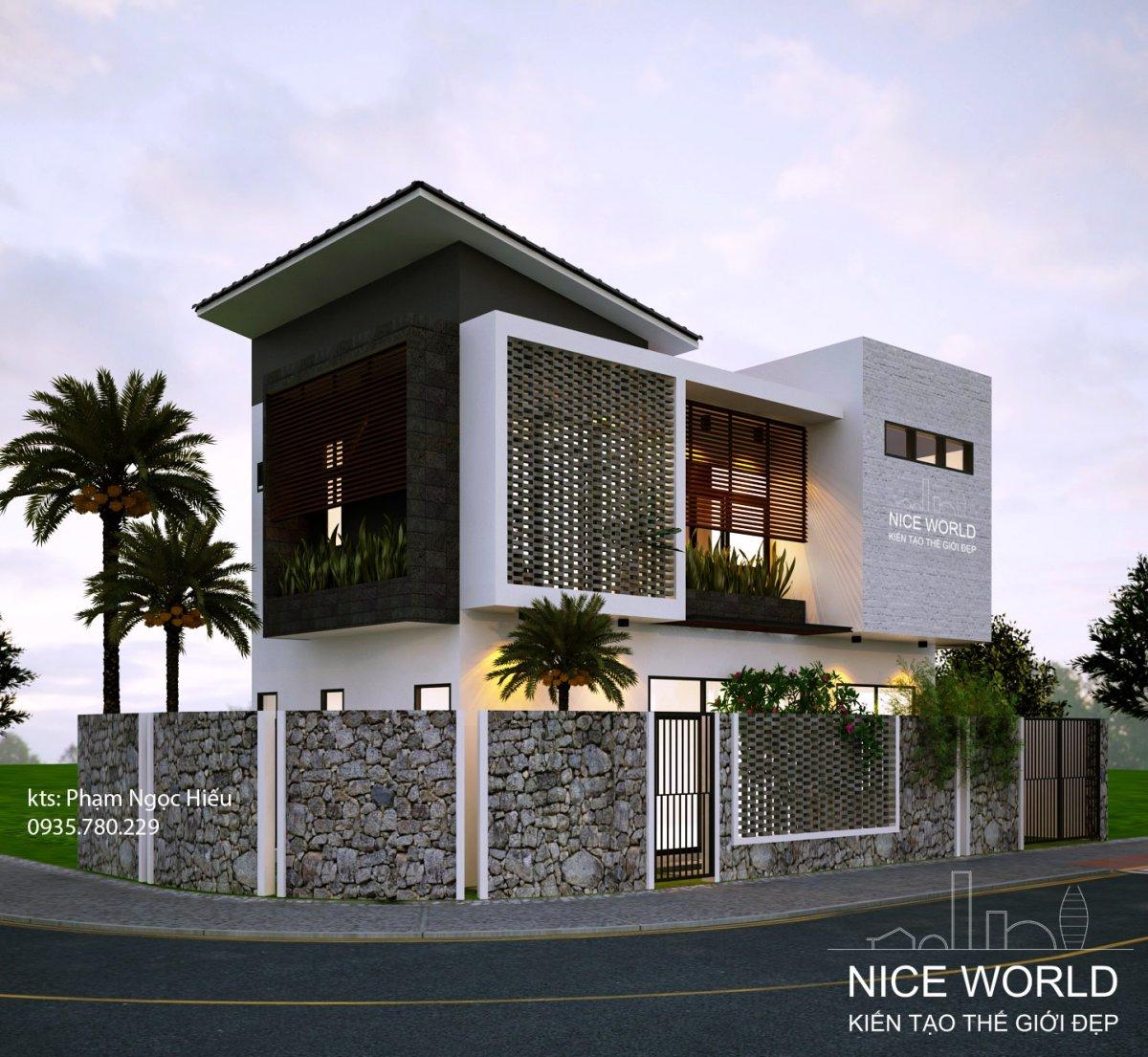 v1 Đã mắt với ngôi nhà thiết kế đẹp độc và lạ xanh mát ấn tượng ở Đà Nẵng. v1