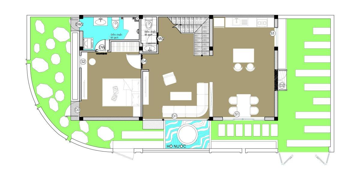 Model Đã mắt với ngôi nhà thiết kế đẹp độc và lạ xanh mát ấn tượng ở Đà Nẵng. chi tiet nha co duyen Model