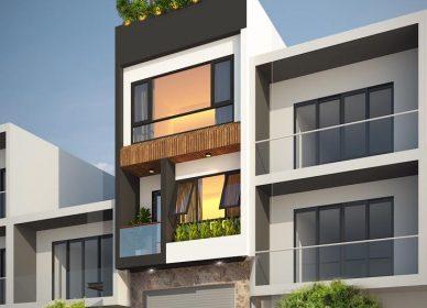 Căn nhà phố 3 tầng thiết kế độc lạ đẹp hút mắt ở Quãng Ngãi