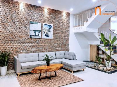 Thiết kế nội thất đẹp căn nhà Shophouse khu Đô thị FPT Đà Nẵng – chị Nga
