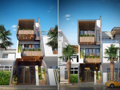 Nhà phố Anh Hải –  4×16 m – Thiết kế ấn tượng – thông minh tại T.P Hạ Long