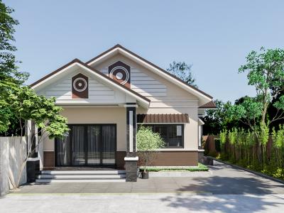 Thiết kế nhà vườn nông thôn mái thái Anh Tuấn – Đồng Nai