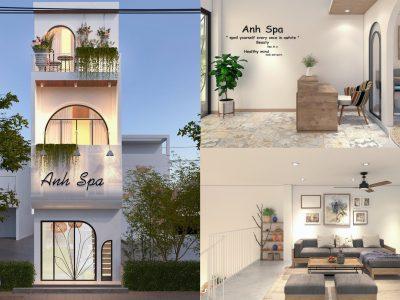 Thiết kế Spa kết hợp nhà ở – Chị Trâm – Đà Nẵng
