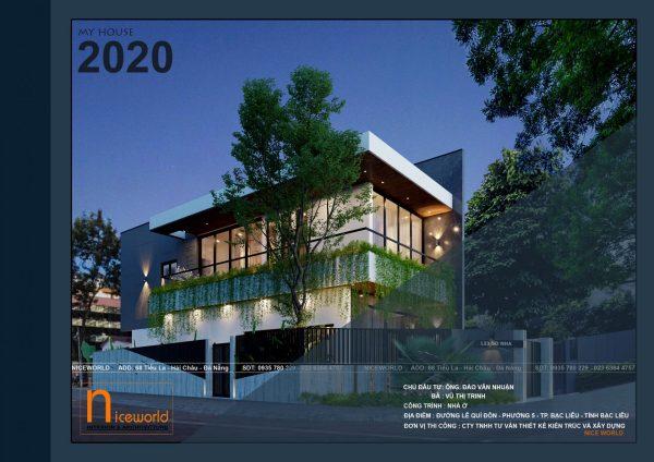 Dự án nhà phố 2 mặt tiền5,4x15m sắp khởi công , đơn giản nhưng sang trọng tại TP bạc Liêu
