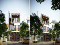 Thiết kế kiến trúc & Thi công nội thất  nhà đẹp 6x20m tinh tế, mới lạ tại Đà Nẵng
