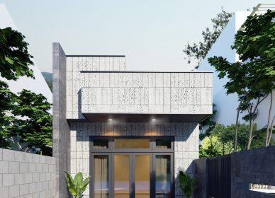 Nhà cấp 4 ở Đồng Nai, 3 phòng ngủ – kích thước 5x24m, thiết kế năm 2021