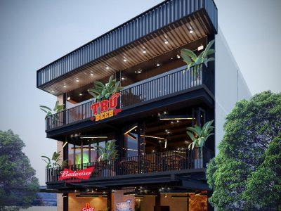 """Thiết kế nhà hàng """"Trứ Beer"""" – 12×17.5 m – Đường trần Văn Dư- Đà Nẵng"""