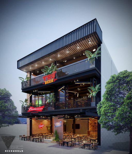 """Read more about the article """"Trứ-Beer-"""" Thiết kế thi công nhà hàng tại Đà Nẵng"""
