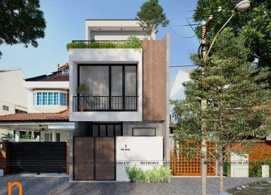 Nhà phố ở Đà Nẵng, 3 tầng 3 phòng ngủ – kích thước 6x13m, thiết kế mới của năm 2021