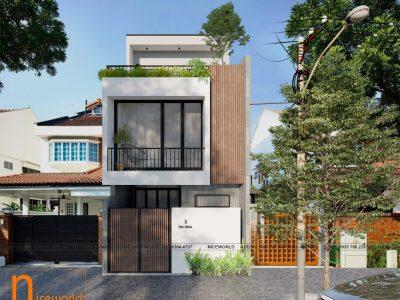 Thiết kế nhà anh Giang – 6×13 m – 3 tầng 3 phòng ngủ – Đà Nẵng
