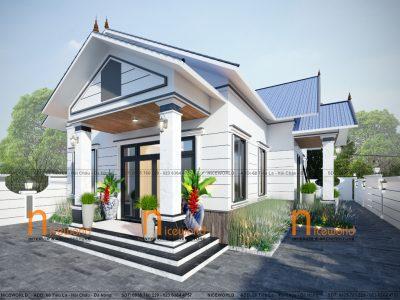 Thiết kế nhà vườn mái thái – 15×30 m – Đồng Nai