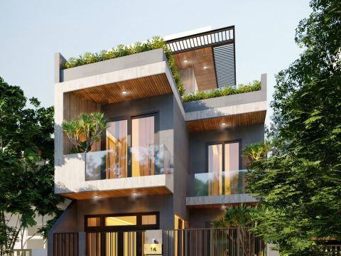 Nhà Biệt Thự ở Đồng Nai, 3 tầng – kích thước 7.2x12m, thiết kế đẹp nhất năm 2021