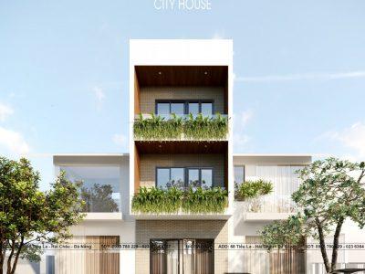 Thiết kế nhà phố Anh Bình – 5×20 m – 3 phòng ngủ – Đà Nẵng