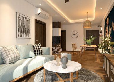 Thiết kế căn hộ chung cư Opal Boulevard chị Hân – T.P HCM – 2 phòng ngủ – 74m2