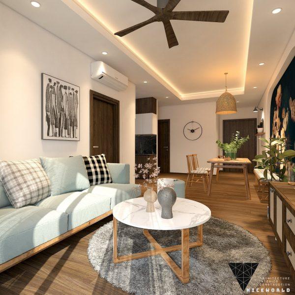 Căn hộ chung cư 2 phòng ngủ 74 m2 Opal Boulevard TPHCM