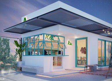 Thiết kế thi công quán cafe A Cóc dt 399m2