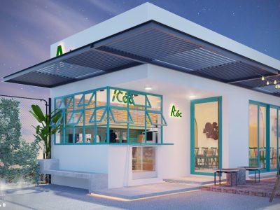 Thiết kế – thi công quán cafe A Tuấn – 399 m2 – Đồng Nai