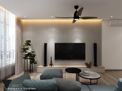 Thiết kế nội thất căn hộ Hoàng Anh Gia Lai – Đà Nẵng – 2 phòng ngủ – 100m2