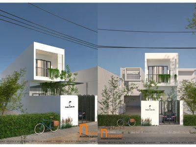 Thiết kế nhà Anh Trí – 4×20 m – 2 tầng – Đà Nẵng