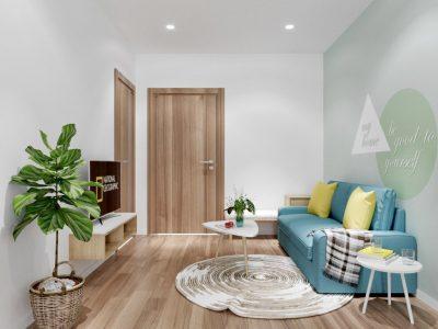 Thiết kế nội thất căn hộ chung cư FPT – 2 phòng ngủ